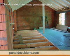Panel entreplanta madera vivienda.